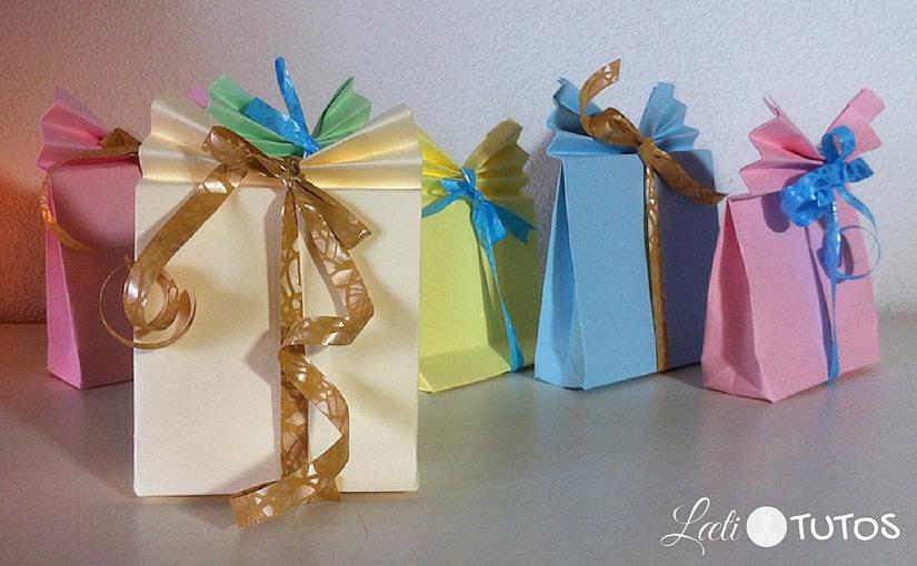 Bien-aimé Fabriquer un petit paquet cadeau en papier (Facile) EN11