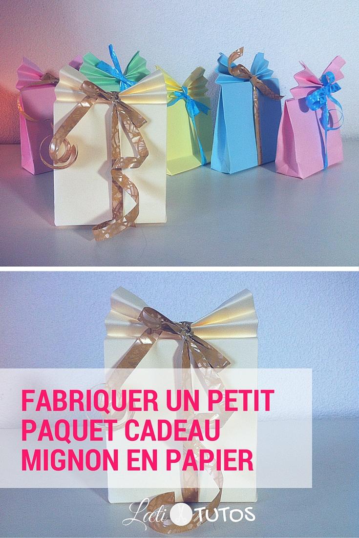 Excellent Fabriquer un petit paquet cadeau en papier (Facile) HW98